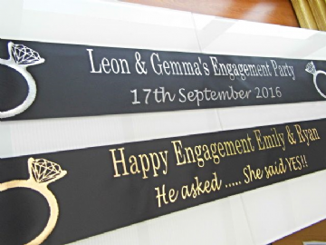 Engagement party Banner Personalised